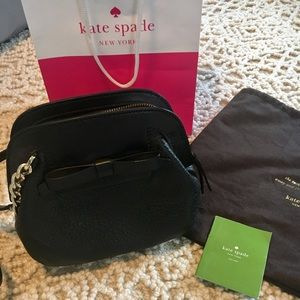 Leather Kate Spade crossbody bow purse - New